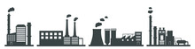 Factory Icon Set. Vector Indus...