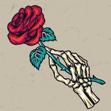 Colorful Skeleton Hand Holding...
