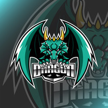Vector Dragon Logo Mascot For Team Brand Esport