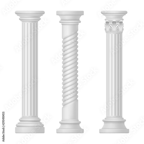 Fotomural  Set of isolated greek and roman, egypt column