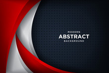 Modern Black Background With 3D Overlap Layers Effect. Graphic Design Elements.