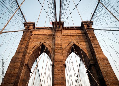 Fototapety, obrazy: Brooklyn Bridge, NYC, Manhattan, USA