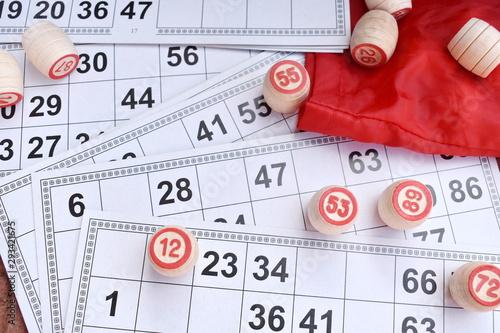 Board entertaining lotto game. Bingo lottery Wallpaper Mural