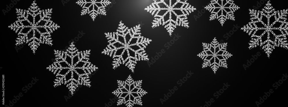 Fototapeta christmas background .snowflakes pattern abstract background