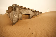 Abandoned Colonial Portuguese House In Sand Dune