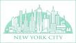New York City urbana skyline
