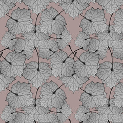 Deciduous seamless pattern in pastel colors.