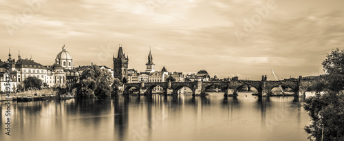 Photo  Charles Bridge Prague in Czech Republic.