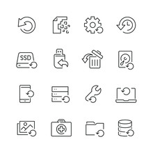 Recovery Related Icons: Thin V...