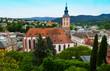 Blick über Baden-Baden auf die Stiftskirche am Marktplatz