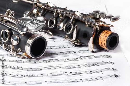 Fototapeta  clarinet on a white background