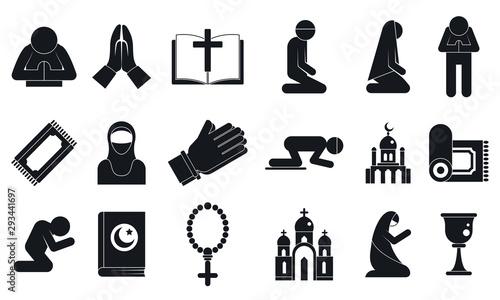 Fotografija  Prayer icons set