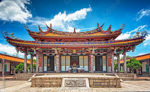 Spoed Fotobehang Bedehuis Taipei Confucius Temple in dalongdong Taipei, Taiwan