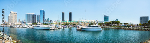 Fotografie, Tablou  San Diego Marina Harbor Panoramic View