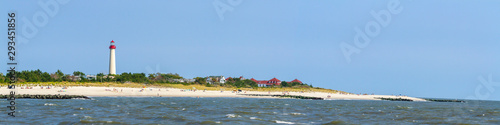 Canvas Print Cape May Lighthouse beach panorama