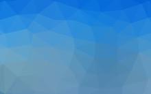 Light BLUE Vector Abstract Pol...