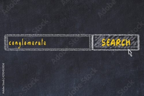 Fototapeta  Chalkboard drawing of search browser window and inscription conglomerate