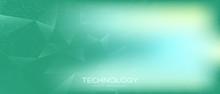Light Technology Elements. Data Flow. Teal Grid
