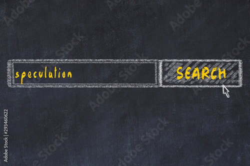 Cuadros en Lienzo  Chalkboard drawing of search browser window and inscription speculation