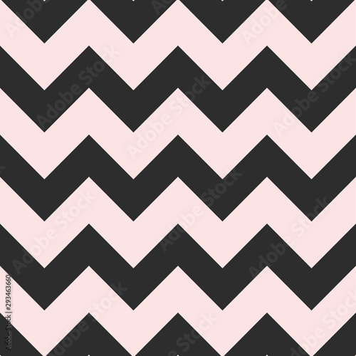 Foto Bold seamless chevron vector pattern in pink and black