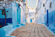 The Old City Of Chefchaouen With The Famous Blue Buildings, Chefchaouen, Morocco