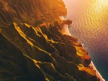 Kauai Cliffs At Sunset - Kalalau