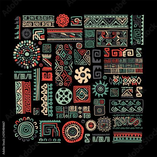 Obraz na płótnie Ethnic handmade ornament for your design