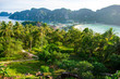 beautiful bay view on phi phi don viewpoint thailand
