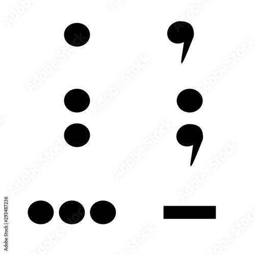 Fényképezés punctuation marks isolated on white background