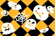 ハロウィンのモンスター模様の壁紙