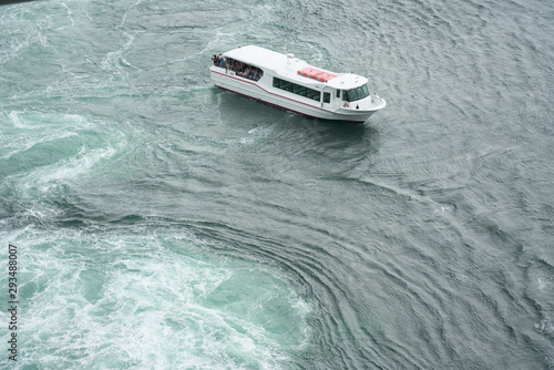 Naruto,Japan-September 28, 2019: The world largest whirlpools in Naruto Channel Fototapet