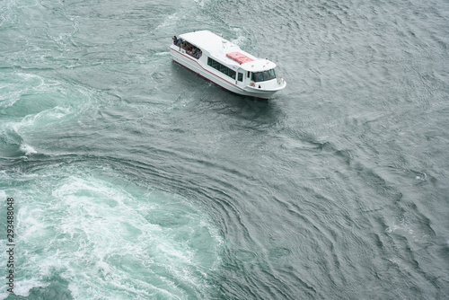 Naruto,Japan-September 28, 2019: The world largest whirlpools in Naruto Channel Tablou Canvas