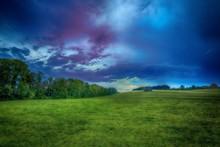 Beautiful Shot Of A Grassy Fie...