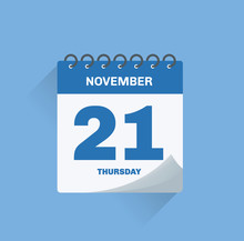 Day Calendar With Date November 21.