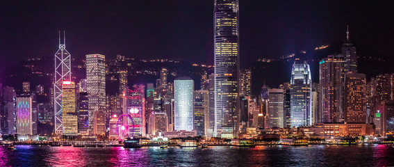 Iconic Hong Kong Night View, Victoria Harbour