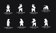 Set Bear Logo Icon Designs