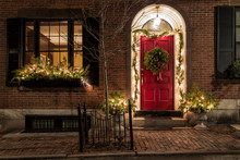 Christmas Decoration On The Door