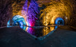 Water mirror in a Salt mine whit beautiful colors.