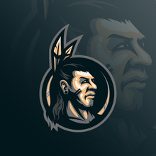Indian Tribe Mascot Logo Desig...