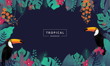 Tropical Background With Touca...
