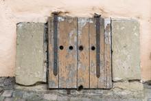 Old Wooden Doors In Building Called Bonhofferhaus.  Schwabisch Hall, Germany 5