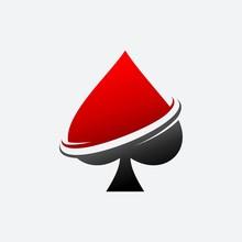 Spade Ace Poker Vector Templat...