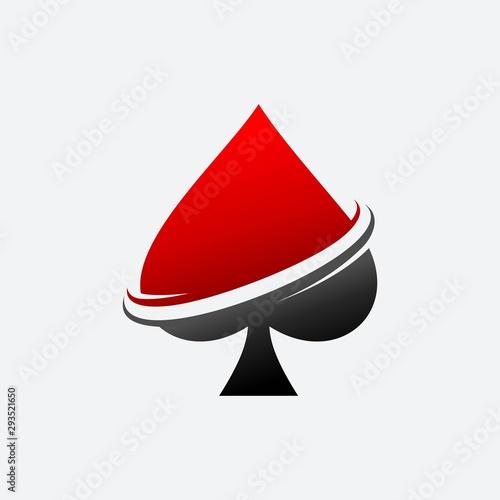 Spade Ace Poker Vector Template Logo Tapéta, Fotótapéta