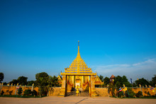 Amazing Temple Wat Sri Bueng Bun In Srisaket At Twilight Time, Sisaket Province  Province, Unseen In Thailand,ASIA.