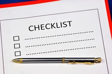 A Checklist Of To-do Items And...