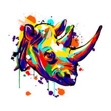 Rhinoceros Face, Savannah Anim...