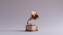 Bronze Vintage Gramophone 3 Qu...