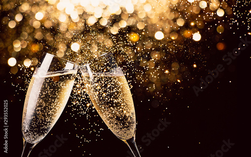 Canvas Print Celebration toast with champagne