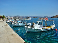 Greece-view Of The Harbor In T...