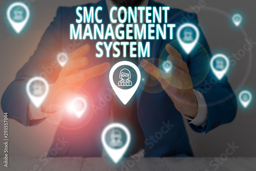 Conceptual hand writing showing Smc Content Management System Wallpaper Mural